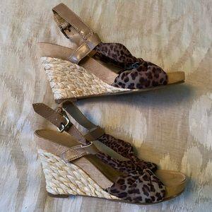 Aerosoles leopard print espadrilles wedges-Size 7